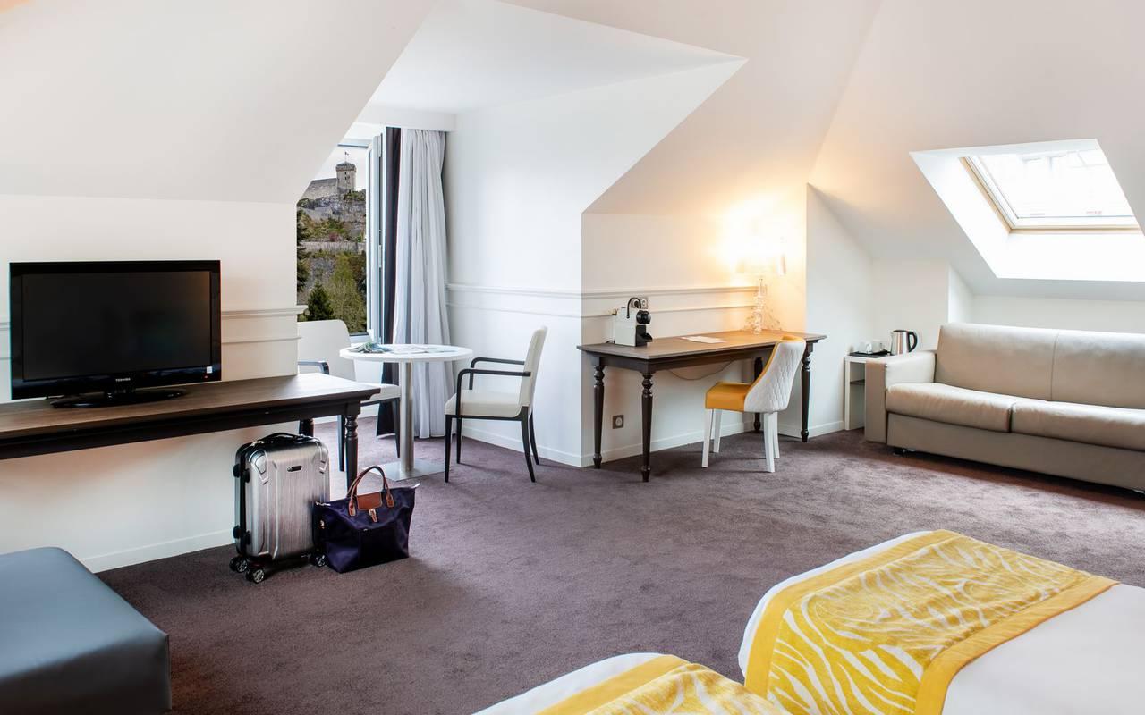 Spacious room, 4-star hotel Lourdes, Hôtel Gallia Londres