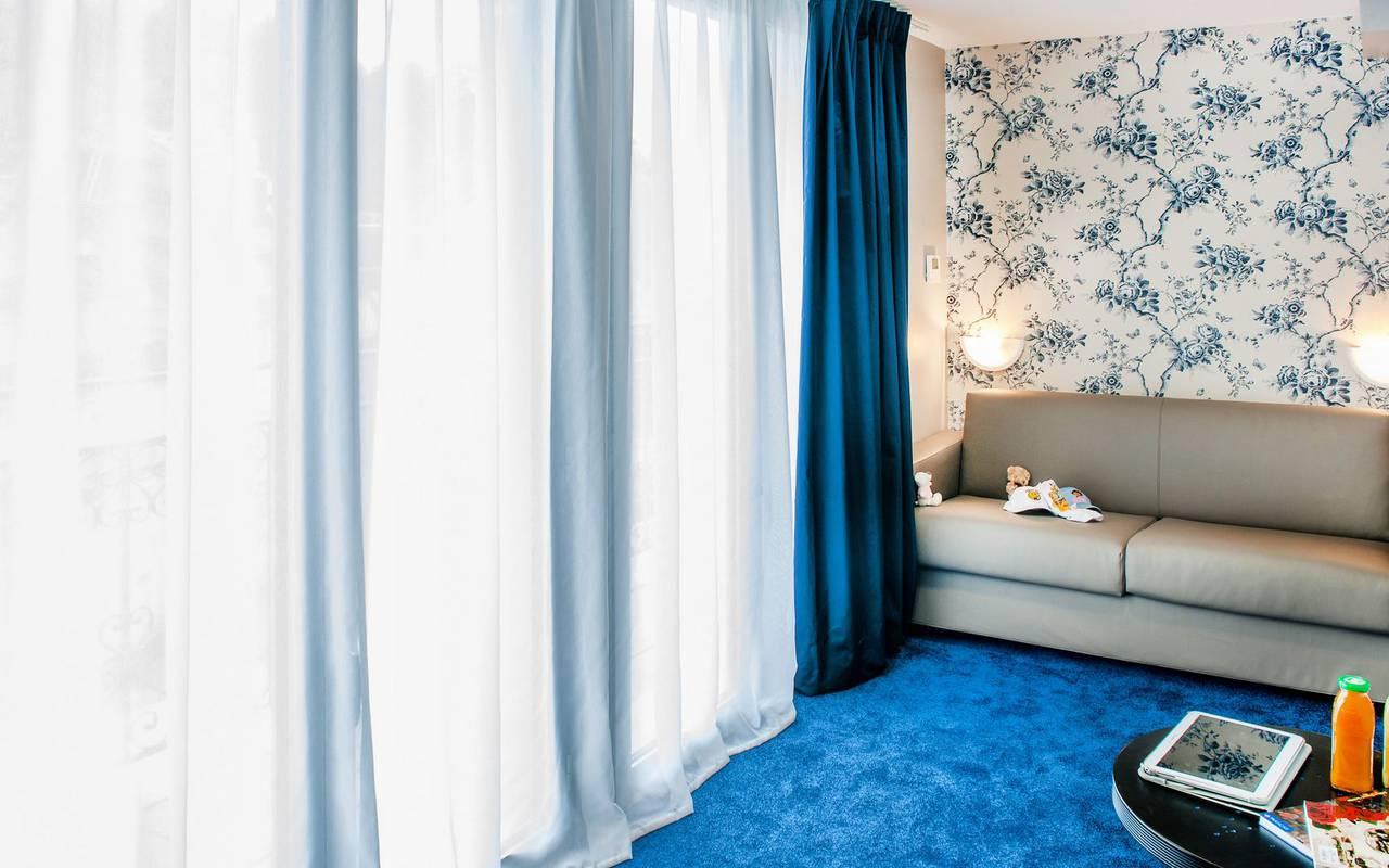 Living room side, 4-star hotel Lourdes, Hôtel Gallia Londres