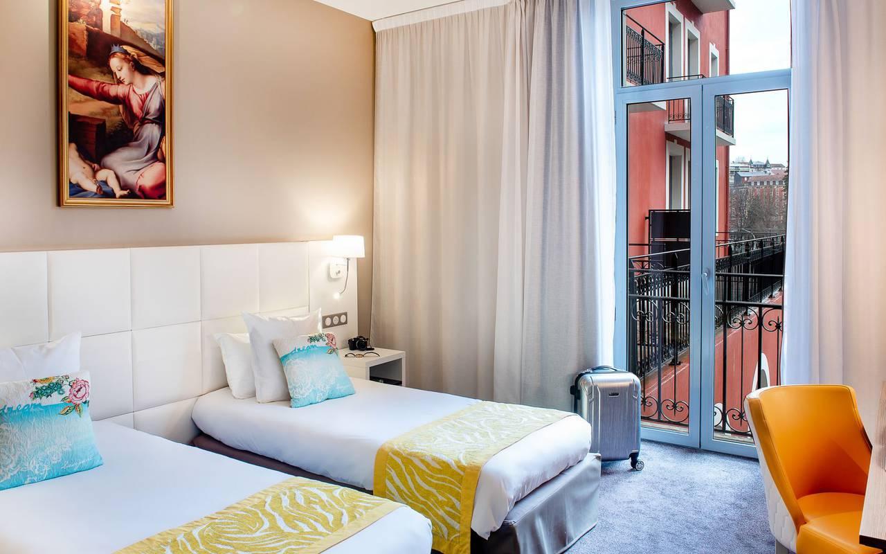 Luminous room, 4-star hotel Lourdes, Hôtel Gallia