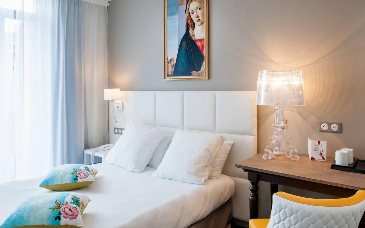 Decorated room, 4-star hotel Lourdes, Hôtel Gallia