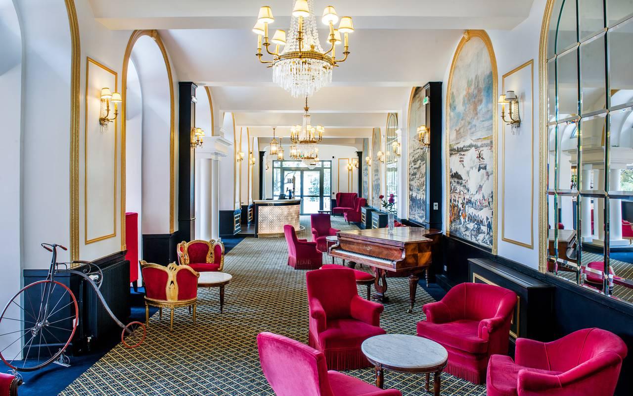 Living room, hotel spa Lourdes, Hôtel Gallia Londres