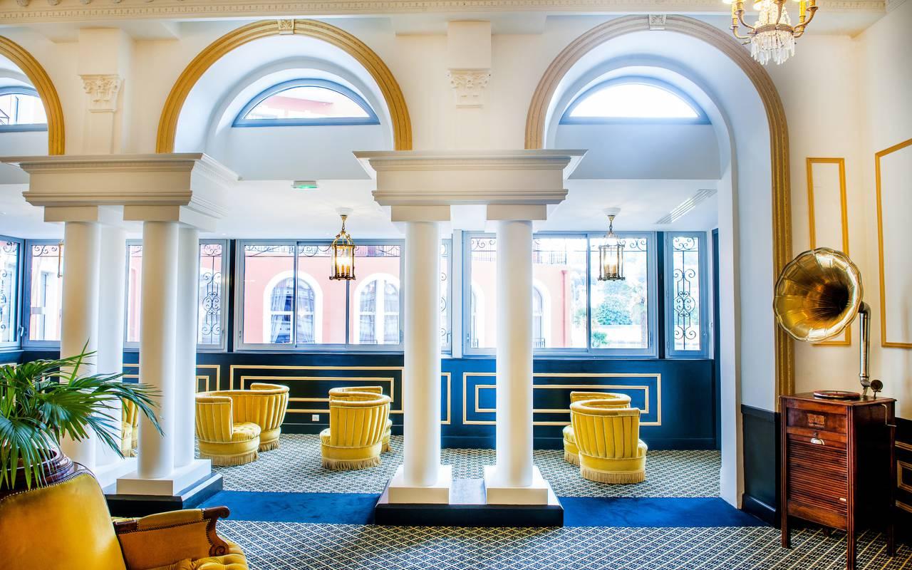 Salon hall, hôtel romantique Pyrénées, Hôtel Gallia Londres