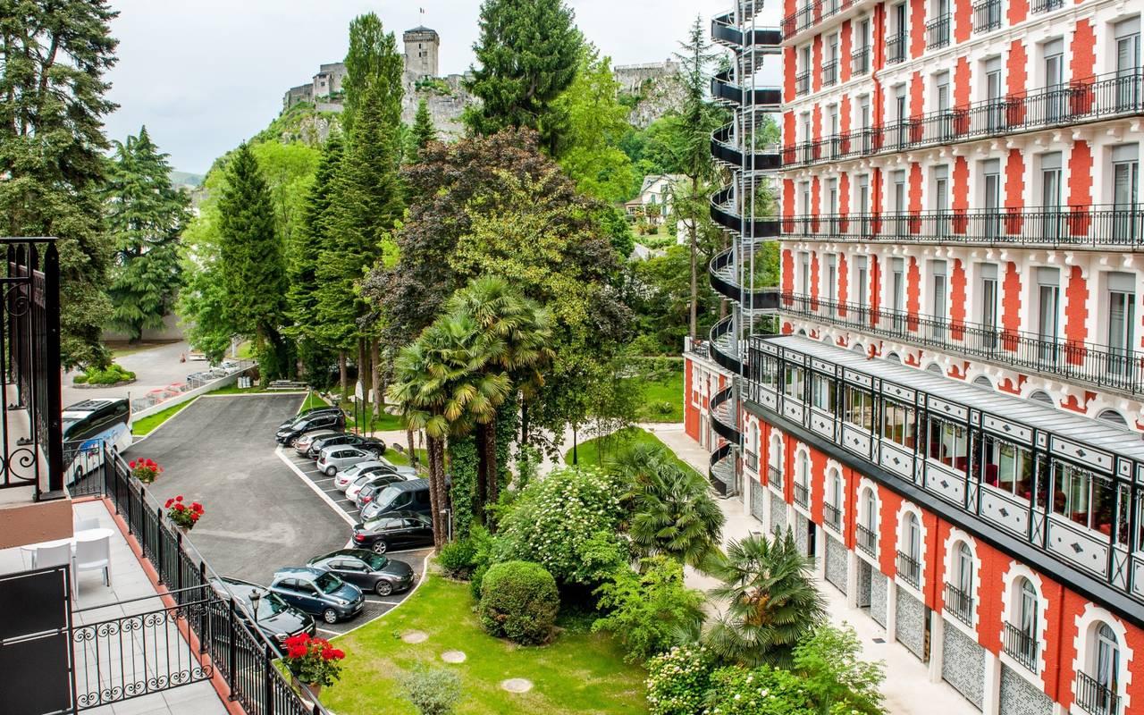 Vue sur le parc, hôtel romantique Pyrénées, Hôtel Gallia Londres